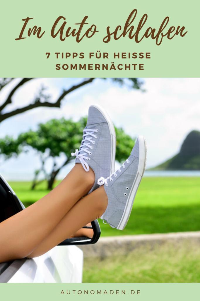 7 Tipps um im Sommer im Auto zu schlafen: speichere diesen Beitrag auf Pinterest.